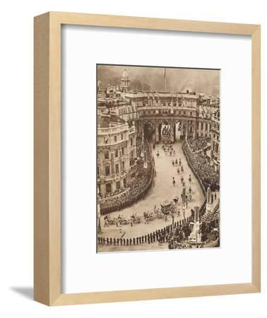 'Sailors Line The Route in Trafalgar Square', May 12 1937-Unknown-Framed Photographic Print