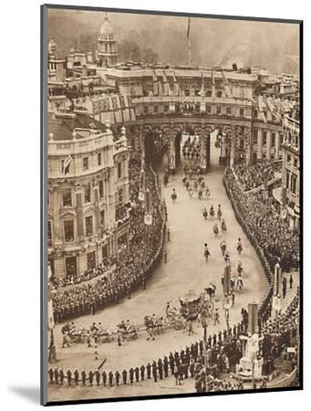 'Sailors Line The Route in Trafalgar Square', May 12 1937-Unknown-Mounted Photographic Print