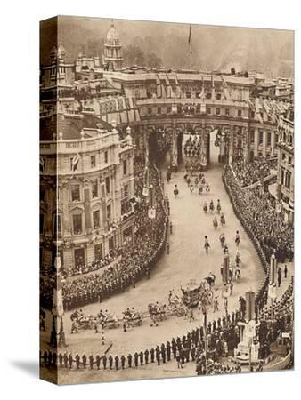 'Sailors Line The Route in Trafalgar Square', May 12 1937-Unknown-Stretched Canvas Print