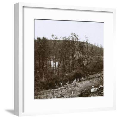 Tavannes Fort, Verdun, northern France, c1914-c1918-Unknown-Framed Photographic Print