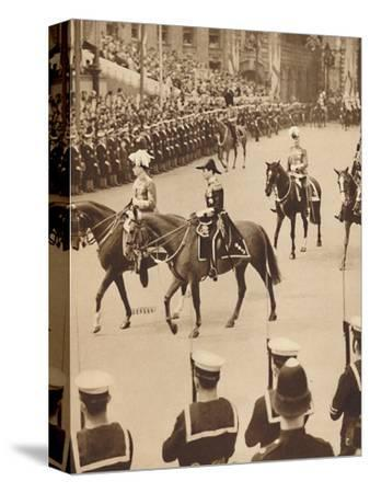 'The King's Personal Aides-De-Camp', May 12 1937-Unknown-Stretched Canvas Print