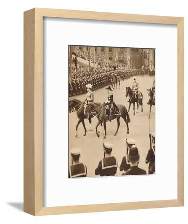 'The King's Personal Aides-De-Camp', May 12 1937-Unknown-Framed Photographic Print