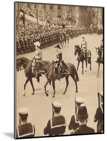 'The King's Personal Aides-De-Camp', May 12 1937-Unknown-Mounted Photographic Print