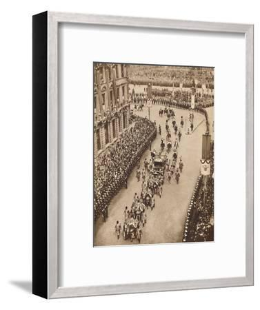 'And So Into Whitehall', May 121937-Unknown-Framed Photographic Print