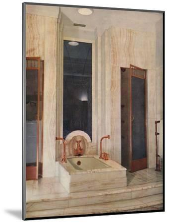 'Bathroom by F. D. Blake, W. N. Froy & Sons', 1939-Unknown-Mounted Photographic Print