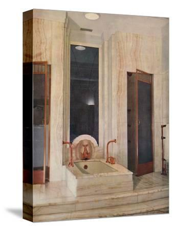 'Bathroom by F. D. Blake, W. N. Froy & Sons', 1939-Unknown-Stretched Canvas Print