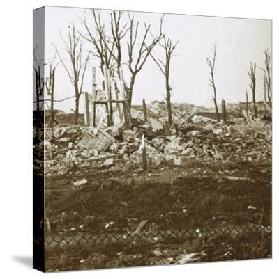 By the Tavannes Fort, Verdun, northern France, c1914-c1918-Unknown-Stretched Canvas Print