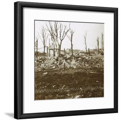 By the Tavannes Fort, Verdun, northern France, c1914-c1918-Unknown-Framed Photographic Print