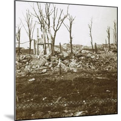By the Tavannes Fort, Verdun, northern France, c1914-c1918-Unknown-Mounted Photographic Print