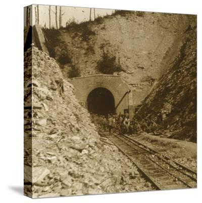 Tavannes Tunnel, Verdun, northern France, c1914-c1918-Unknown-Stretched Canvas Print