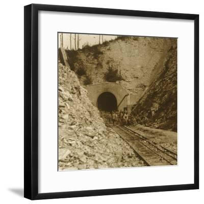 Tavannes Tunnel, Verdun, northern France, c1914-c1918-Unknown-Framed Photographic Print