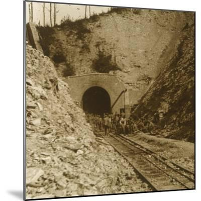 Tavannes Tunnel, Verdun, northern France, c1914-c1918-Unknown-Mounted Photographic Print
