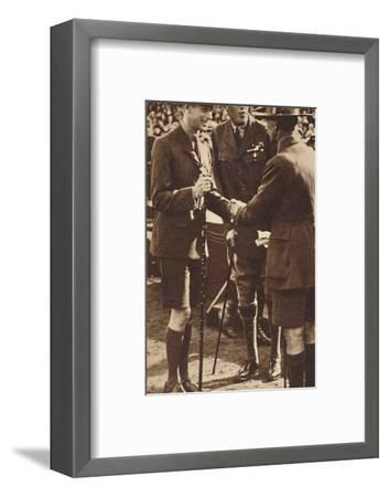 'Scout's Handshake' - Rally at Adelaide, 1927 (1937)-Unknown-Framed Photographic Print