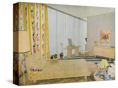 'Bedroom Designed by Suzanne Guiguichon', 1939-Unknown-Stretched Canvas Print