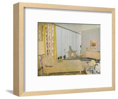 'Bedroom Designed by Suzanne Guiguichon', 1939-Unknown-Framed Photographic Print