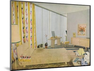 'Bedroom Designed by Suzanne Guiguichon', 1939-Unknown-Mounted Photographic Print