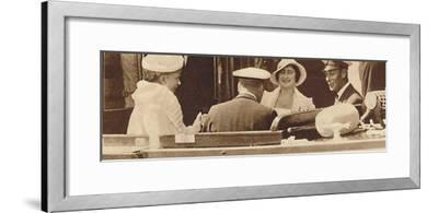 'Family Joke' - leaving the Royal Yacht Albert and Victoria at Cowes, c1935 (1937)-Unknown-Framed Photographic Print