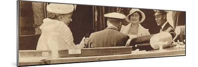 'Family Joke' - leaving the Royal Yacht Albert and Victoria at Cowes, c1935 (1937)-Unknown-Mounted Photographic Print