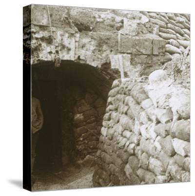 Tunnel, Mt Casque, France, c1914-c1918-Unknown-Stretched Canvas Print