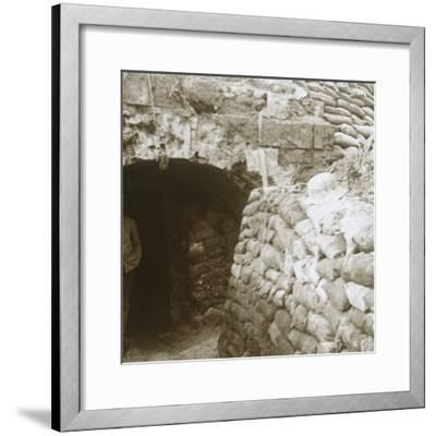 Tunnel, Mt Casque, France, c1914-c1918-Unknown-Framed Photographic Print