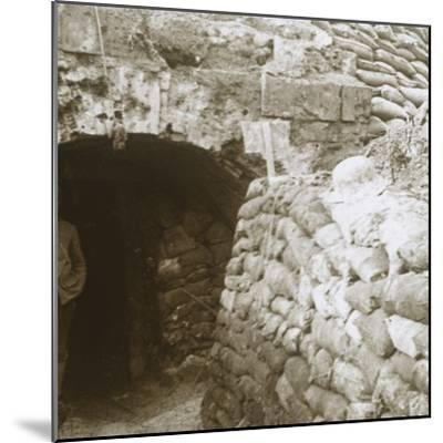 Tunnel, Mt Casque, France, c1914-c1918-Unknown-Mounted Photographic Print