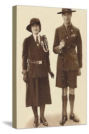 'Off to a Rally of Scouts and Guides', c1931 (1937)-Unknown-Stretched Canvas Print