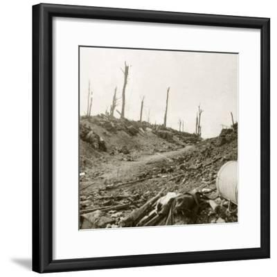 Before Chaulnes, Somme, northern France, c1914-c1918-Unknown-Framed Photographic Print