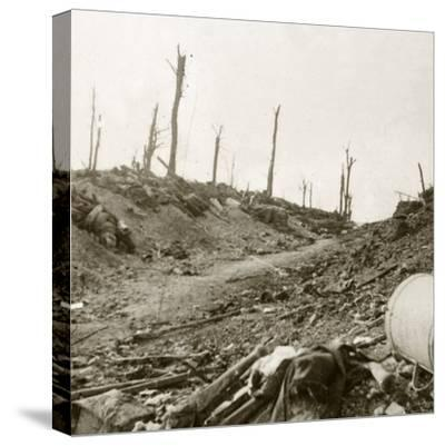 Before Chaulnes, Somme, northern France, c1914-c1918-Unknown-Stretched Canvas Print