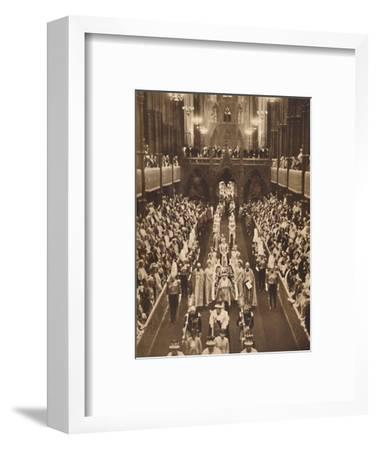 'The Queen's Procession', May 12 1937-Unknown-Framed Photographic Print