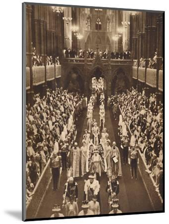'The Queen's Procession', May 12 1937-Unknown-Mounted Photographic Print
