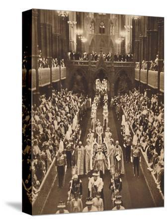 'The Queen's Procession', May 12 1937-Unknown-Stretched Canvas Print