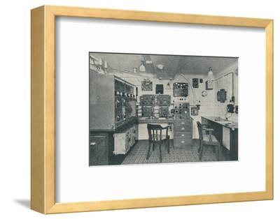 'One of the Wireless Cabins in a modern liner', 1936-Unknown-Framed Photographic Print
