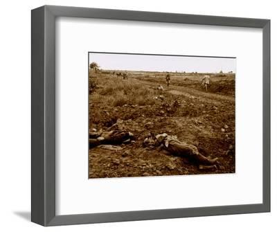 Bodies of German soldiers, c1914-c1918-Unknown-Framed Photographic Print