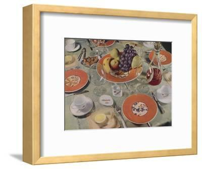 'Dessert - In this table arrangement the fruit service is Royal Copenhagen faience', 1939-Unknown-Framed Photographic Print