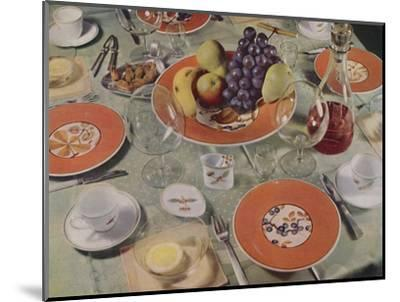 'Dessert - In this table arrangement the fruit service is Royal Copenhagen faience', 1939-Unknown-Mounted Photographic Print
