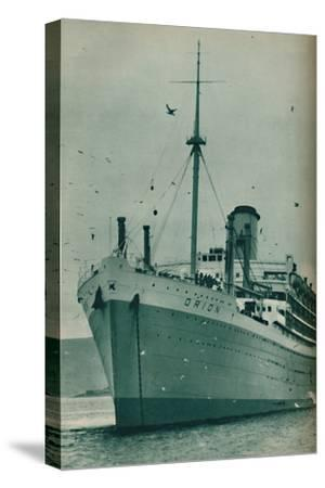 'The Majesty of a Great Liner - The Orion at anchor', 1937-Unknown-Stretched Canvas Print