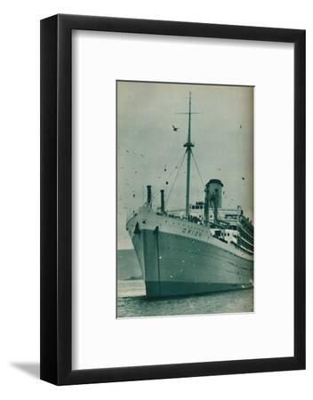 'The Majesty of a Great Liner - The Orion at anchor', 1937-Unknown-Framed Photographic Print