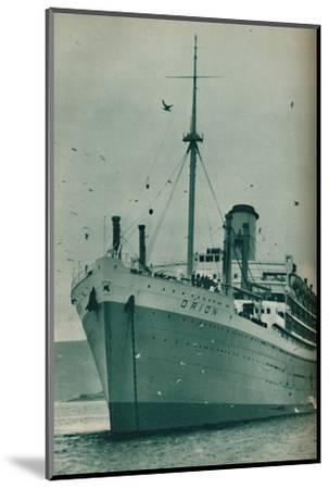 'The Majesty of a Great Liner - The Orion at anchor', 1937-Unknown-Mounted Photographic Print