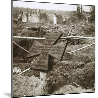 German common grave, c1914-c1918-Unknown-Mounted Photographic Print