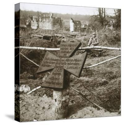 German common grave, c1914-c1918-Unknown-Stretched Canvas Print