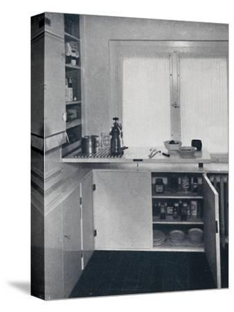 Werner Harting - Kitchen with a black Dutch tiled floor-Unknown-Stretched Canvas Print