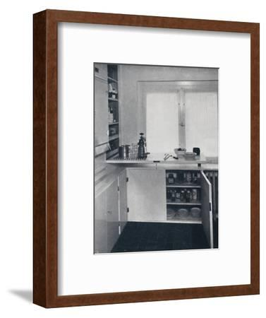 Werner Harting - Kitchen with a black Dutch tiled floor-Unknown-Framed Photographic Print