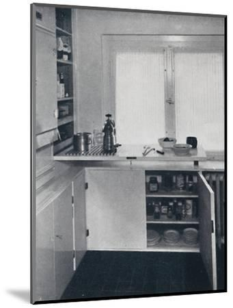 Werner Harting - Kitchen with a black Dutch tiled floor-Unknown-Mounted Photographic Print