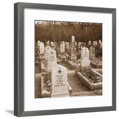 German cemetery, Carlepont, Northern France, c1914-c1918-Unknown-Framed Photographic Print