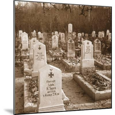 German cemetery, Carlepont, Northern France, c1914-c1918-Unknown-Mounted Photographic Print