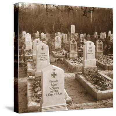 German cemetery, Carlepont, Northern France, c1914-c1918-Unknown-Stretched Canvas Print