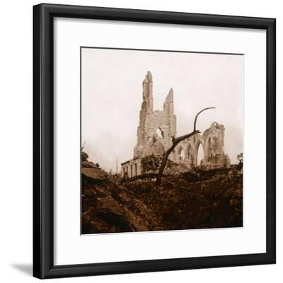 Ruined church, Ablain-Saint-Nazaire, Northern France, c1914-c1918-Unknown-Framed Photographic Print