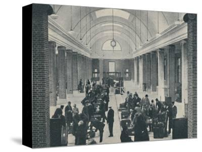 'Tilbury passenger baggage examined in a spacious new building', 1937-Unknown-Stretched Canvas Print