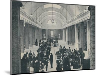 'Tilbury passenger baggage examined in a spacious new building', 1937-Unknown-Mounted Photographic Print