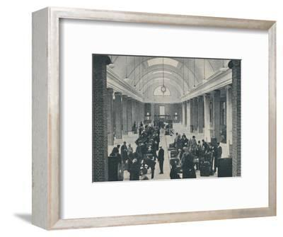'Tilbury passenger baggage examined in a spacious new building', 1937-Unknown-Framed Photographic Print